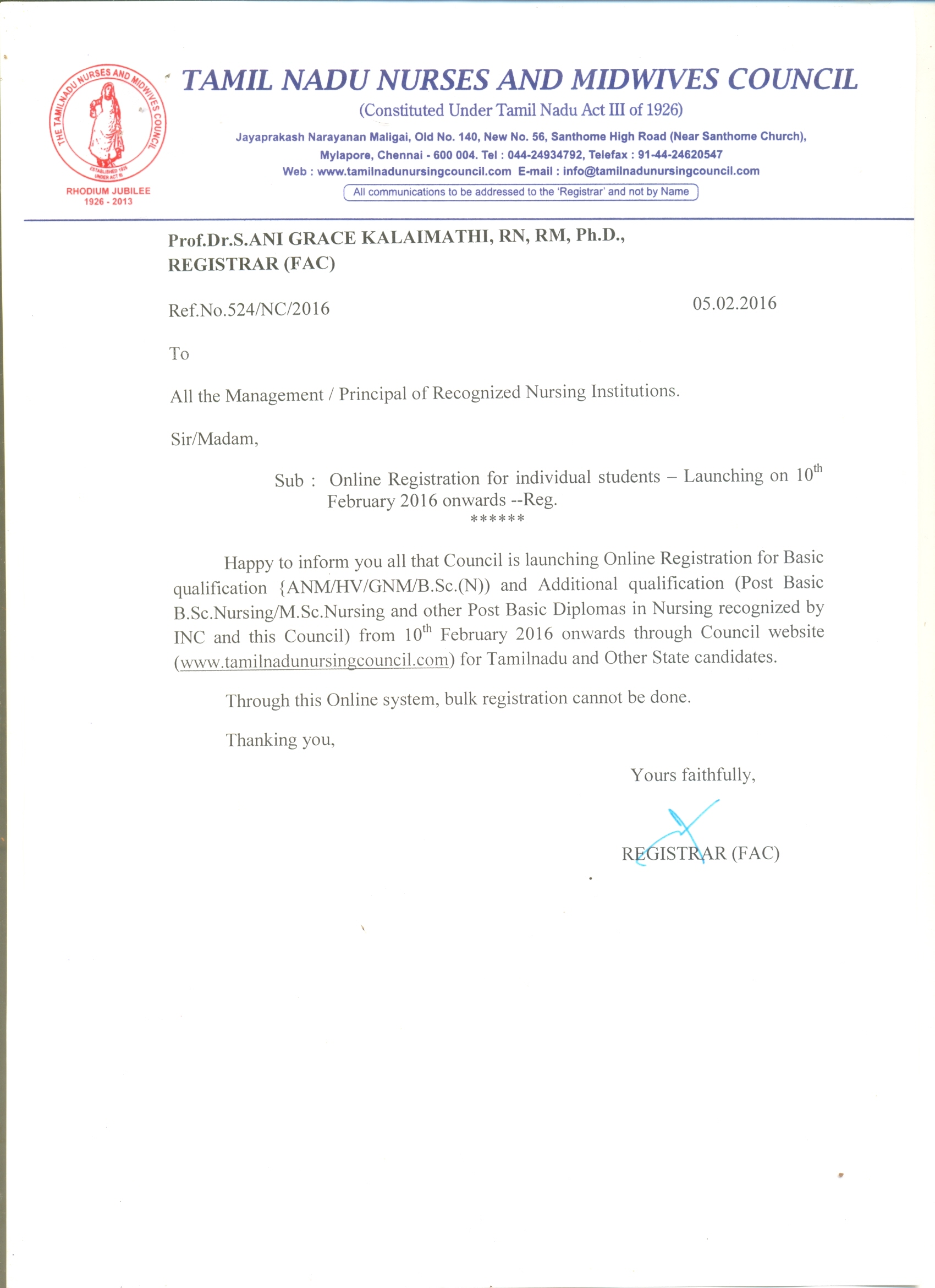 Tamil nadu nurses midwives council latest circular xflitez Choice Image
